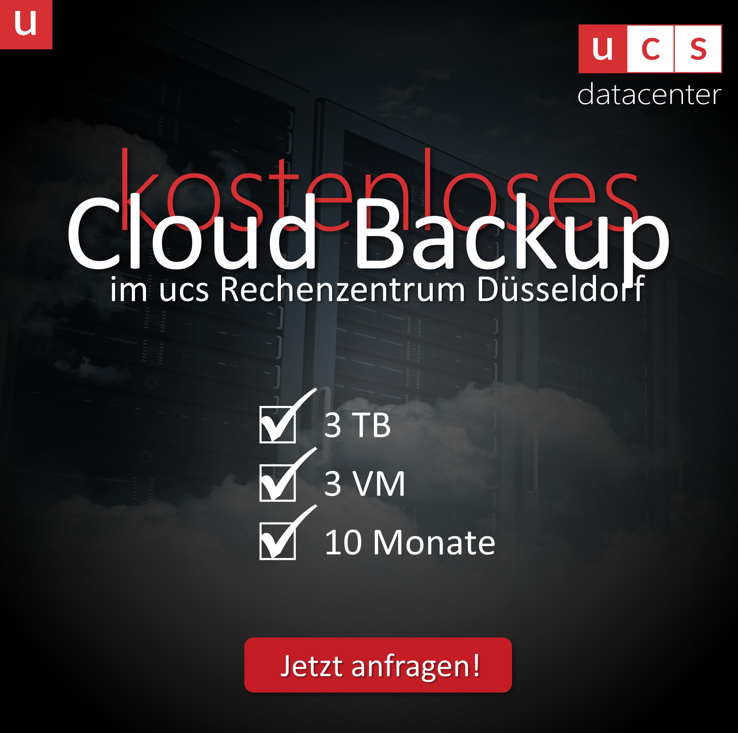 Kostenloses Cloud Backup für den Mittelstand   jetzt anfragen bei ucs datacenter GmbH