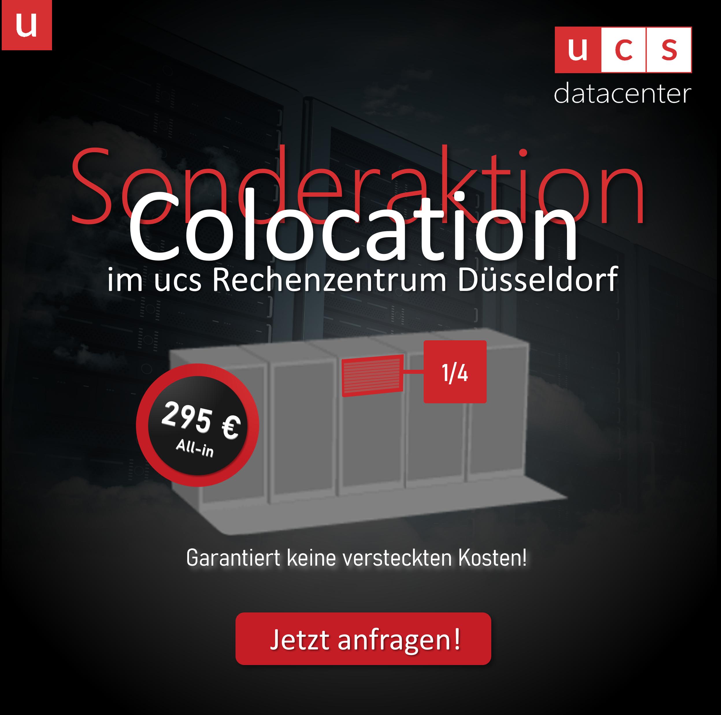 Colocation im deutschen ucs Rechenzentrum zum Sonderaktionspreis - alle-in inklusive Strom- und Datenflat   jetzt anfragen bei ucs datacenter GmbH
